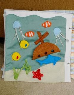 ocean quiet book page