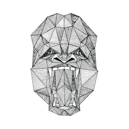 Tattify Gorilla Temporary Tattoo - Silverback (Set of 2)