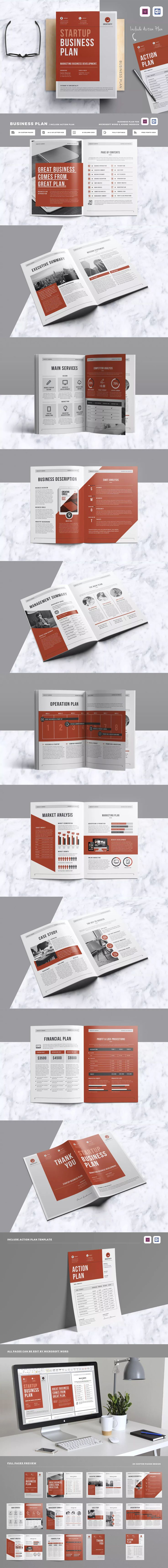 Business Plan Brochure Template InDesign INDD - A4 & US Letter Size