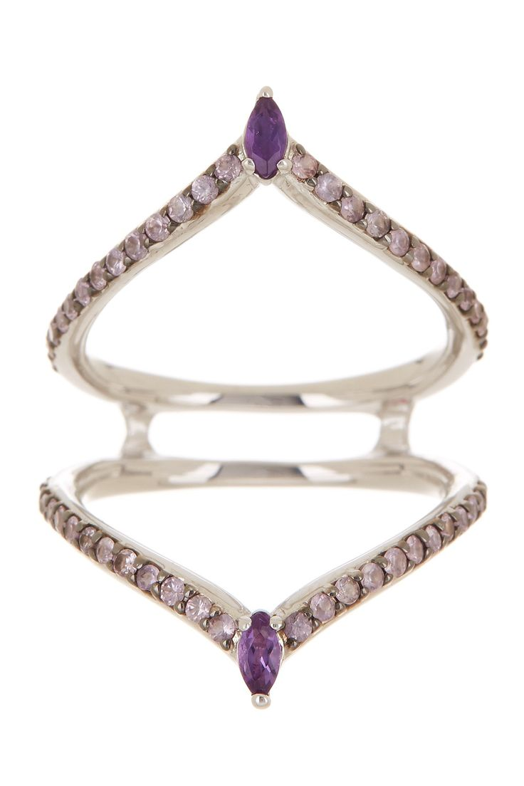 Sterling Silver Amethyst Marquise Outline Ring - Size 6 by Alexis Bittar on @nordstrom_rack