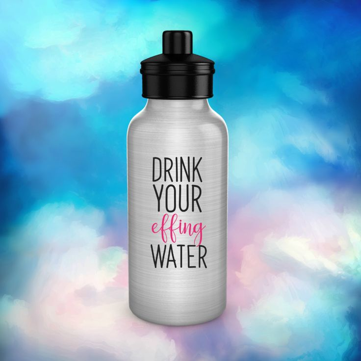 Funny water bottledrink your effing watergift for mom