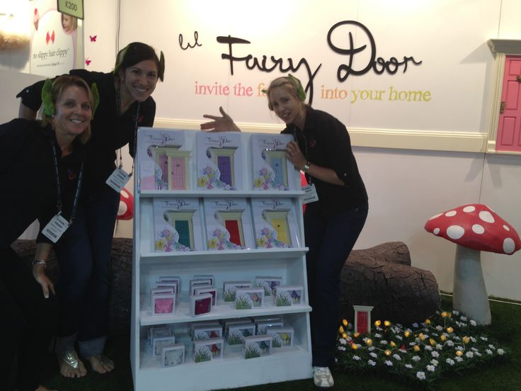 The Elves getting excited after making their first order for Fairy Doors... love the toadstools!