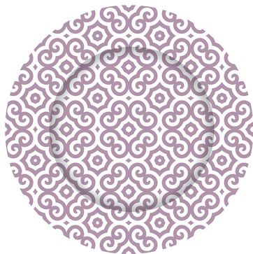 Purple Mosaic Charger Plates - Set of 12 contemporary-charger-plates