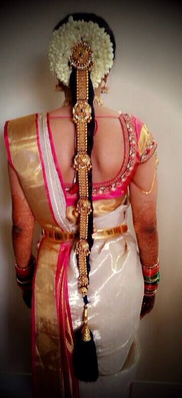 south indian bride   bridal hairstyle