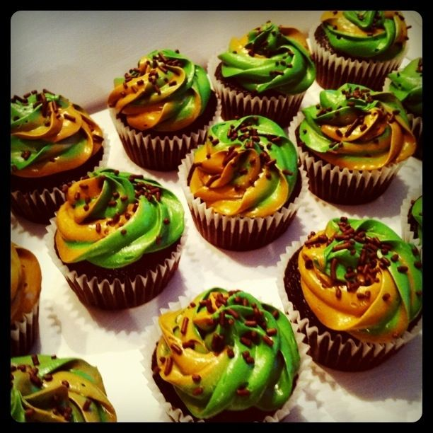 Chocolate Camouflage Cupcakes
