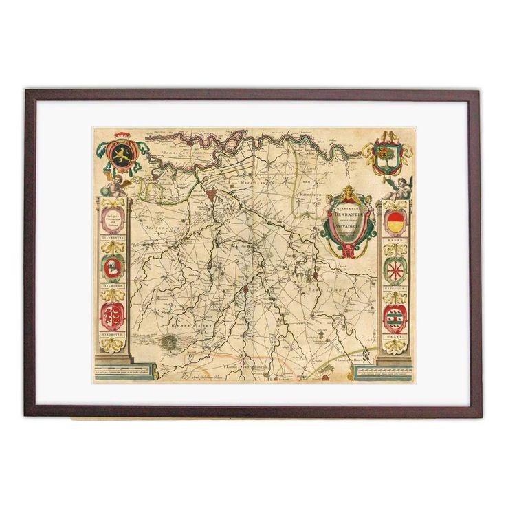 Oude kaart Brabant - Blaeu