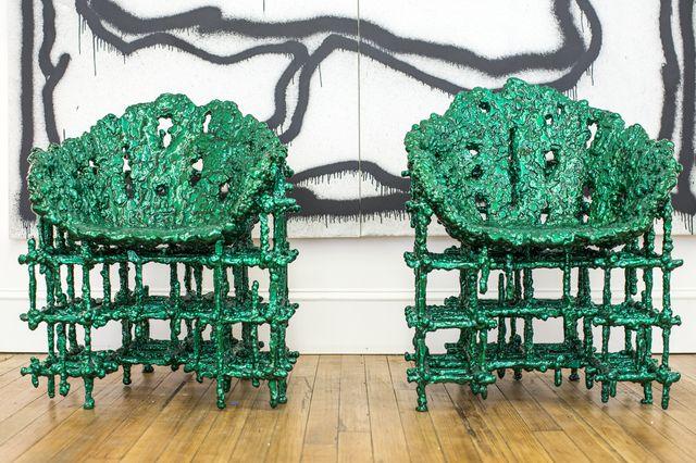 Chris Schanck, 'Alufoil chairs,' 2015, Johnson Trading Gallery