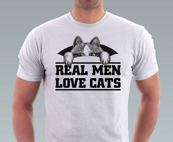 Real Men Love Cats tshirt Hipster Geek Cat Kitty Cat by catssecret