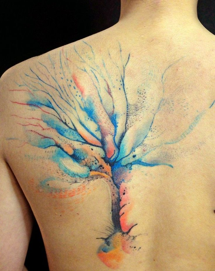 cute_watercolor_tree_tattoo_on_whole_back.