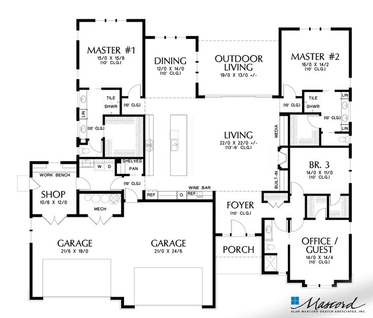Plan 1254 The Abingdon House Plans How To Plan Ranch