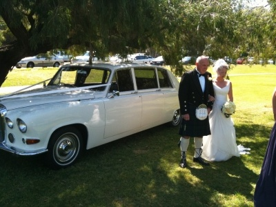 Royal Daimler on Matilda Bay. Perth wedding car from Absolutely Fabulous Wedding Cars... see more at http://abfabweddingcars.mirrabooka.weddingcircle.com.au