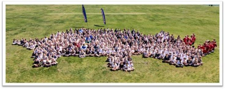Last week Monday  pupils formed a human rhino on the school field - and what a beautiful rhino it was! A total of 414 pupils from Sunningdale Prep and the Senior Primary participated. We raised R3198.50 for the Rooting for Rhino Schools Challenge.