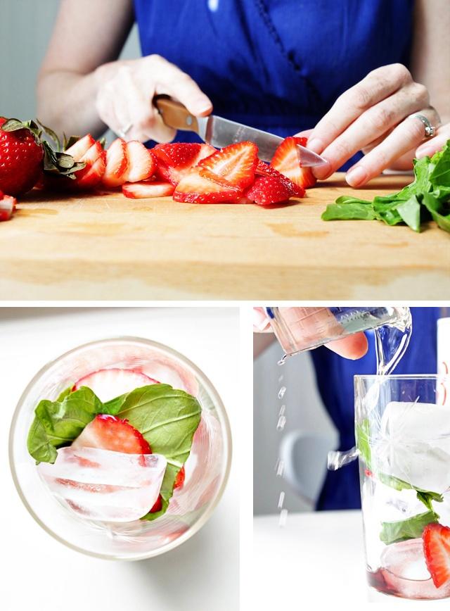 Strawberry Basil Sparkler (vodka) | Drink: Happy Hour | Pinterest