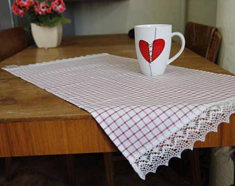 Tavolo Tovagliette - runner tavolo - tavolo centro - sala da pranzo decorazione - tovaglia - scacchi tovaglie
