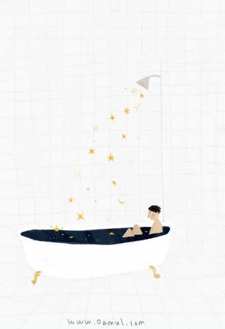 lluvia de estrellas.  Rainning stars