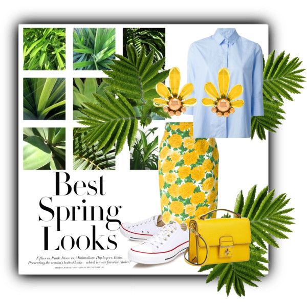The Spring Outfit! #2 by stella-black on Polyvore featuring Valentino, Michael Kors, Converse, Dolce&Gabbana and H&M