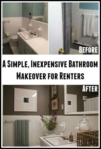 Bathroom Makeovers For Renters 61 best bathroom images on pinterest | home, room and bathroom ideas