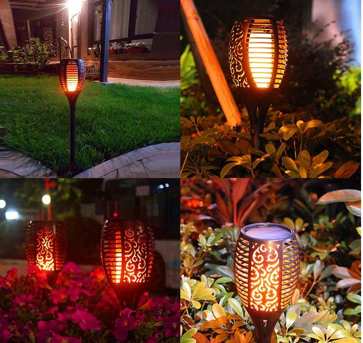 Get Yours>>63% OFF Today! 96LED Solar Flame Light Outdoor Garden Lawn Light