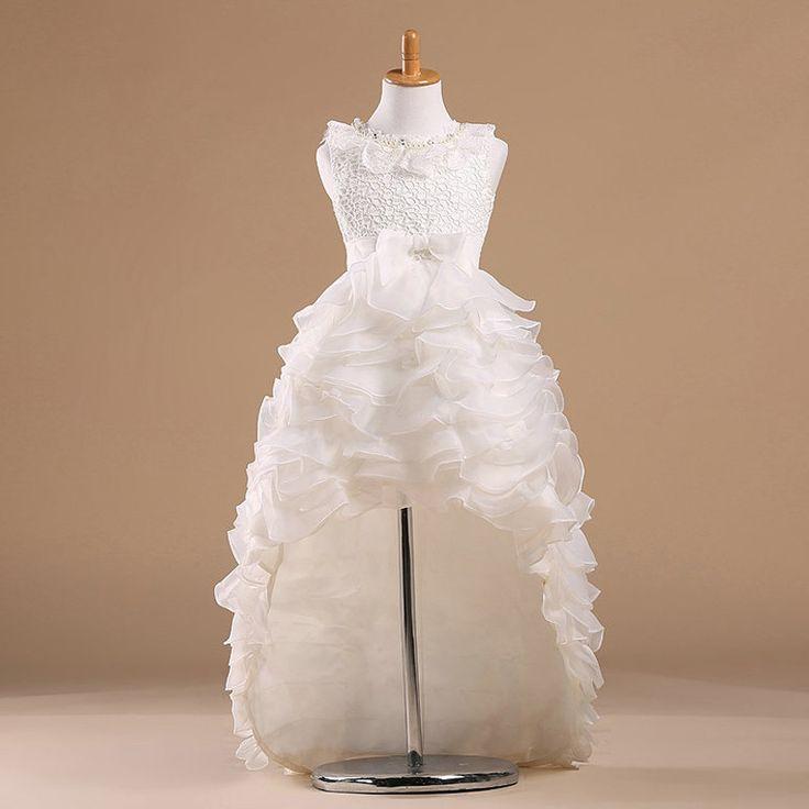 Cheap Niños de la princesa de la muchacha de flor vestidos para bodas Kid Party Girls vestido del desfile con una larga tren para niñas Glitz, Compro Calidad Vestidos de Damita de Honor directamente de los surtidores de China:
