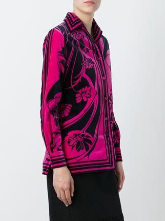Emilio Pucci Vintage бархатный пиджак с цветочным принтом