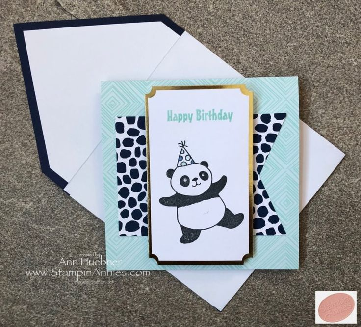 Party Pandas Quick Card using Color Me Happy Project Kit from Stampin' Up!