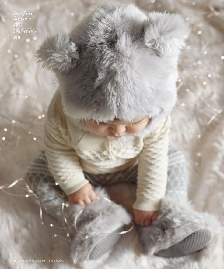 OH MY GOODNESS!!! THAT BABY'S FUR HAT AND OUTFIT - 2013 Holiday Catalog | Restoration Hardware Baby & Child