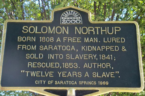 Memorial to Solomon Northup in Saratoga Springs.