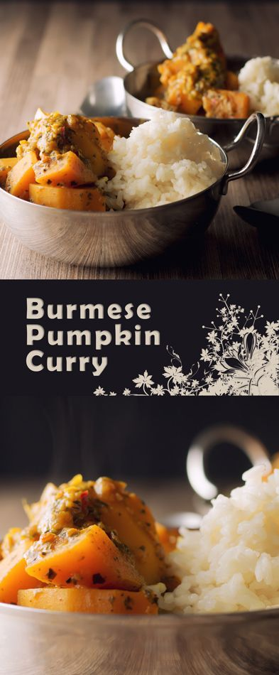 Burmese Pumpkin Curry with Tamarind Recipe: Pumpkin is the most wonderfully versatile ingredient and this pumpkin curry of Burmese influence is softened with Tamarind with a beautiful mint back note #curry #asianfood #vegetarian #pumpkin #spicy #asianrecipe #curryrecipe #recipe #recipeoftheday