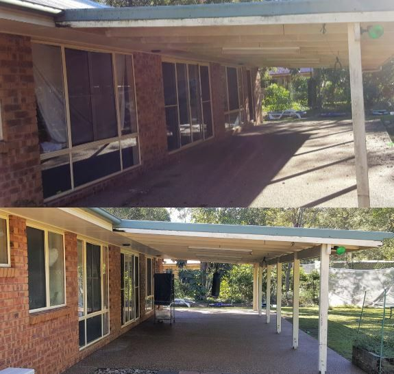 House cleaning including soft wash and pressure cleaning