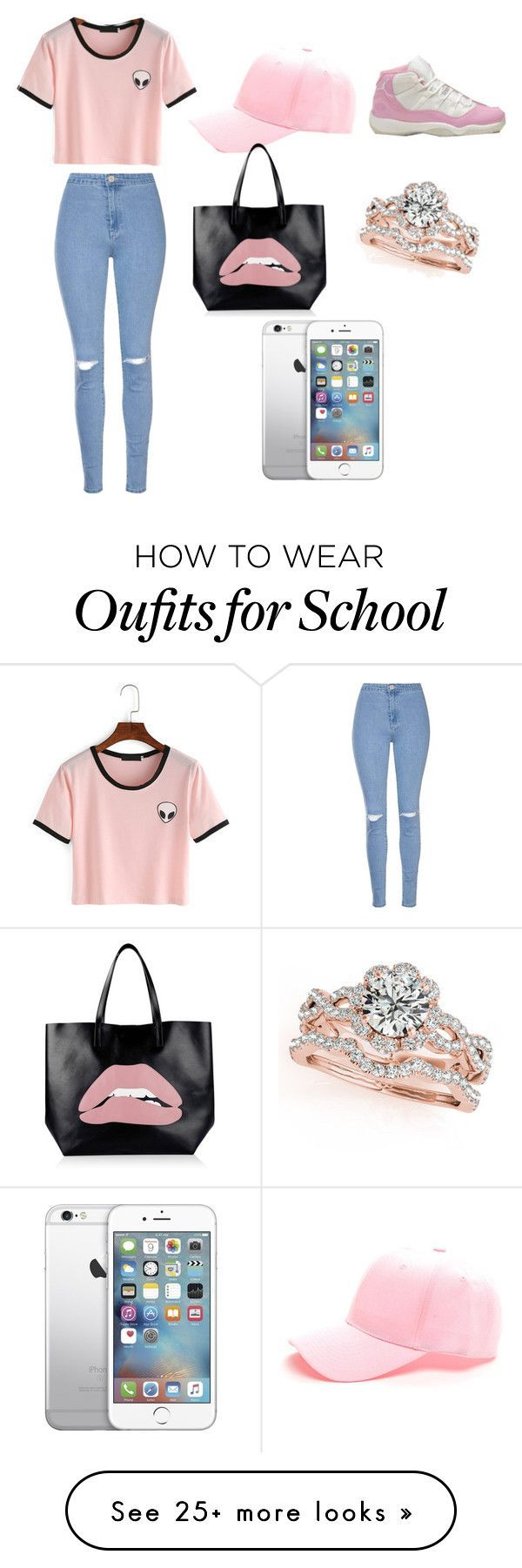 Last Day Of School Outfit by cedez2004 on Polyvore featuring Glamorous and RED Valentino