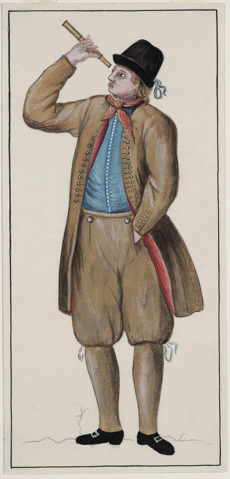 Hindelooper kapitein omstreeks midden van de 17de eeuw kunstenaar: Huppes, N. kunstenaar: Lap, Hendrik J. 1949 #Friesland #Hindeloopen