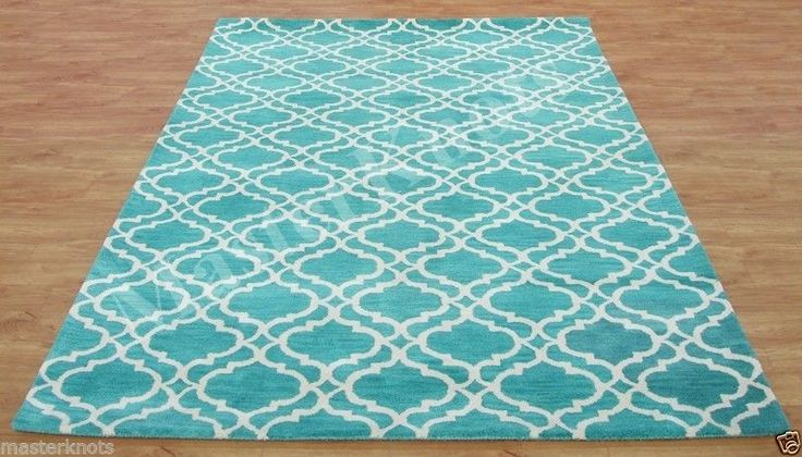 Brand New Riyana Scroll Irish Aqua Green 4x6 6x4 Handmade