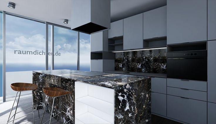 ArchViz for Virtual Reality – Kitchen Penthouse Munich | Architekturvisualisierung für Virtual Reality – Küche Penthouse München | raumdichter