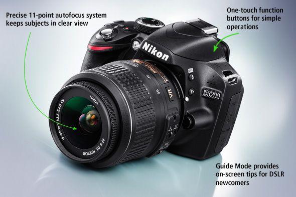Nikon D3200 24.2MP Digital SLR Camera Price In India