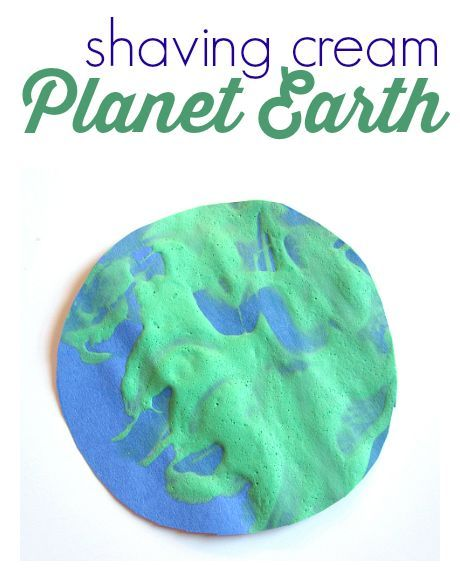 easy space theme or earth day craft for kids
