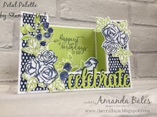 The Craft Spa - Stampin' Up! UK independent demonstrator : Petal Palette for Colour INKspiration Challenge #C...