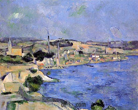 Cezanne | Saint-Henri and the Bay of l'Estaque, c.1877/79