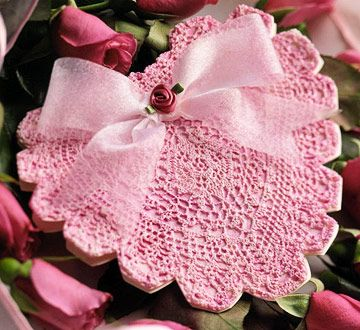 easy crochet dollies patterns | CROCHET DOILY DOUBLE HEART PATTERN ROSE « CROCHET FREE PATTERNS