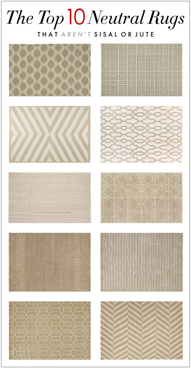 THE TOP TEN NEUTRAL RUGS THAT AREN'T SISAL OR JUTE