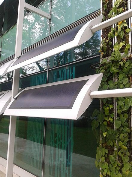 PV panels as external shading device in zeroenergy