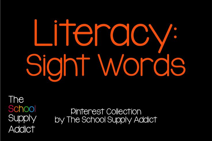 Pinterest Collection: Sight Words