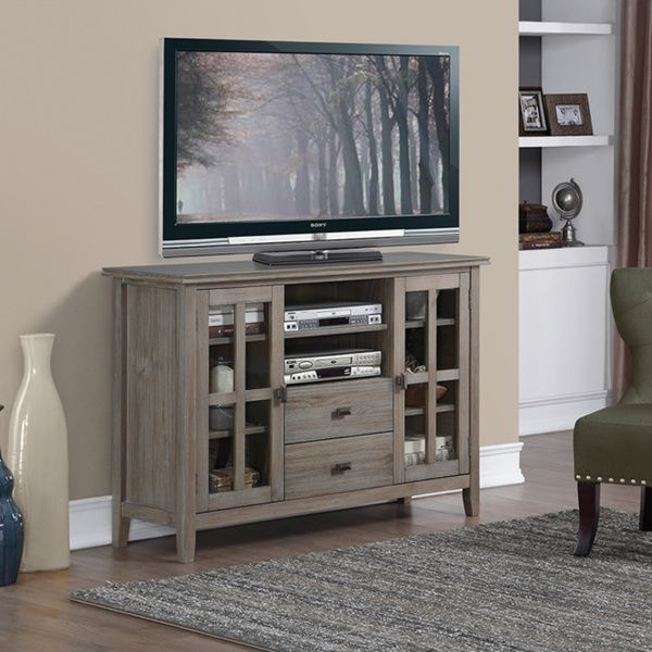 Wyndenhall Stratford Tall TV Media Stand In Distressed