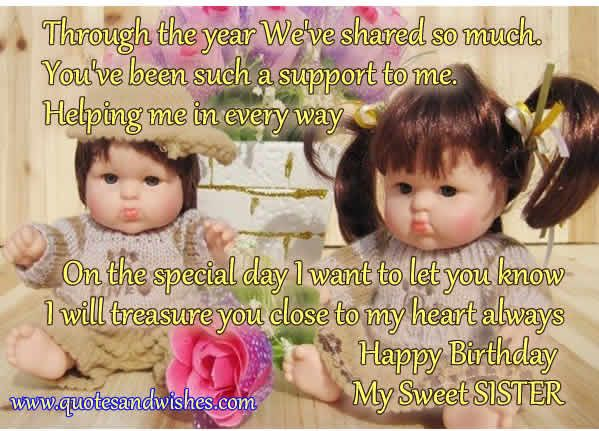 21 best images about SISTER – Sister Birthday Greetings Quotes