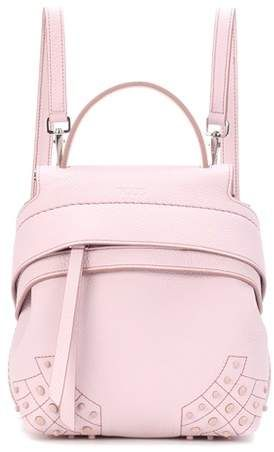 100c500f1e0 Tod s Wave Mini leather backpack   Shop the look products ...