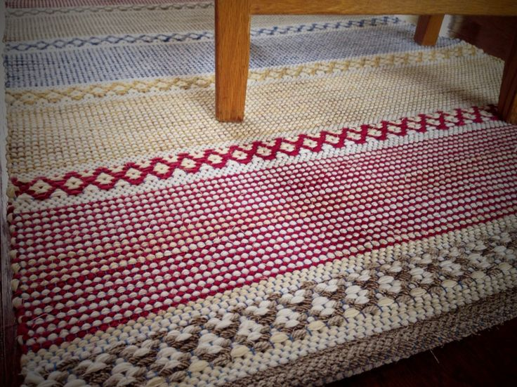 Rosepath rag rug. Karen Isenhower Lovely rugs and great method for the hems
