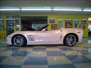 2013 Pink Metallic Chevrolet Corvette Grand Sport for Sale Breast Cancer Awareness Ribbon on seats http://www.iseecars.com/used-car-finder