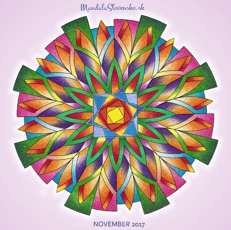 Mandala mesiaca november Prijímam dary a požehnania, žijem radosť. #mandala #mandalaslovensko #mandalaslovakia #mandalanovember #november #healingart #sacredgeometry #newearth #art #handmade #affirmations