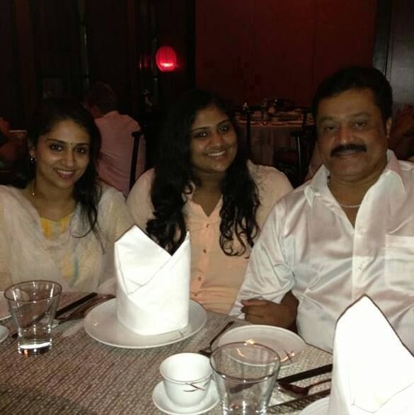 Suresh Gopi With his Family