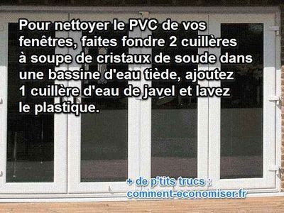 comment nettoyer blanchir PVC fenetre