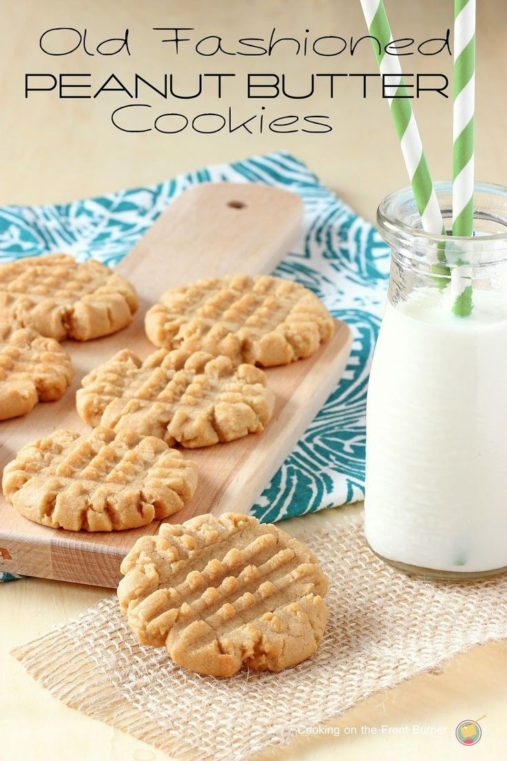 Old Fashioned Peanut Butter Cookies - soft and chewy